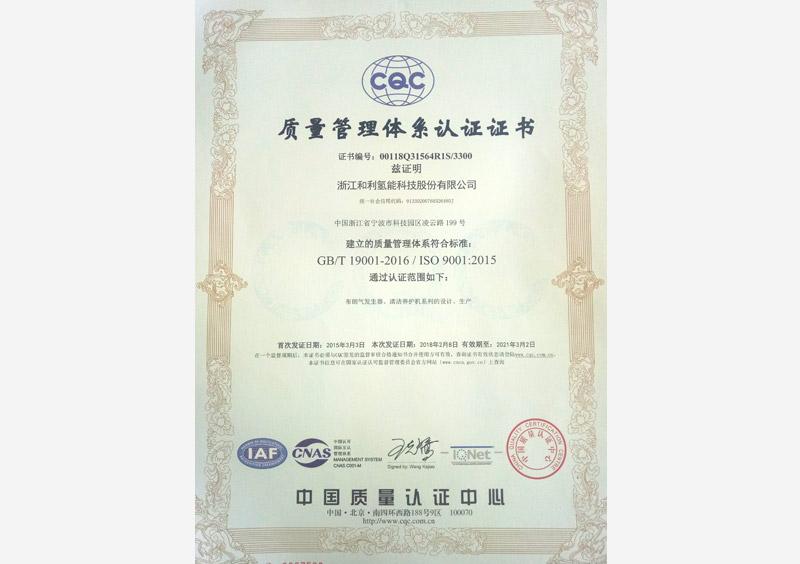 ISO9001-2015-质量管理体系认
