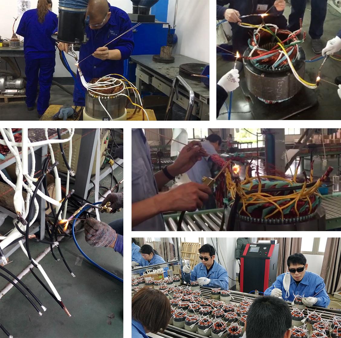 电机引出线焊接